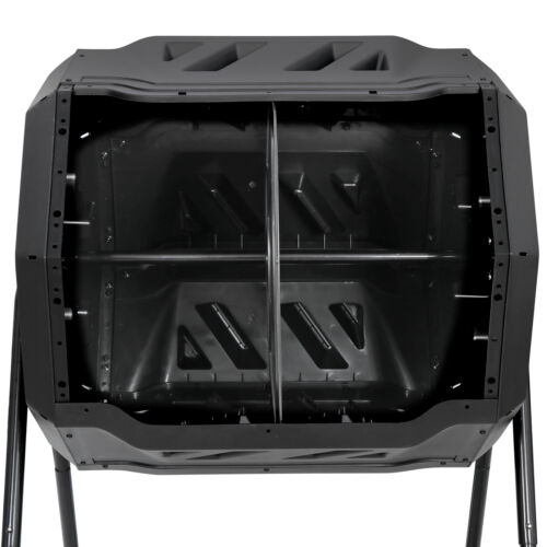 Large Composting Tumbler 43 Gallon Gardening Large Compost Bin with Door Outdoor