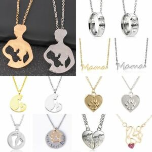 34edff6cfd20 Charm Baby Mom Dad Daughter Son Heart Necklace Pendant Family Love ...