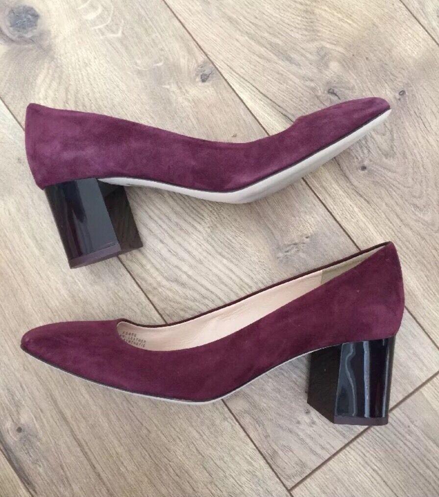 New JCrew JCrew JCrew Lucite Heels in Suede 9.5  218 vintage cabernet rot schuhe f5959 NEW f1dc99