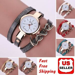 Fashion-Women-Faux-Leather-Crystal-Bracelet-Ladies-Quartz-Analog-Wrist-Watch-HOT