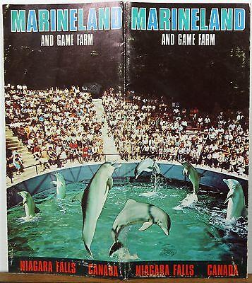 Marine Land Canada Map 1970's Marineland & Game Farm Niagara Falls Ontario Canada