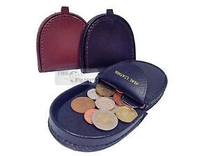 Real-Leather-Coin-Tray-Purse-Wallet-Gents-Small-Change-Men-Small-Pocket