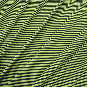 stoff meterware baumwolle jersey ringeljersey streifen gr n kiwi marine blau neu ebay. Black Bedroom Furniture Sets. Home Design Ideas