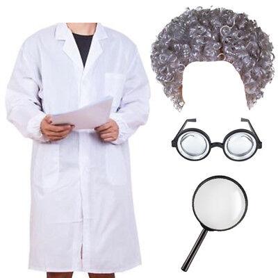 Ordinato Bambini Bimbi Ragazzi Ragazze Scienziato Pazzo Costume Kit Giornata Mondiale Del Libro.-mostra Il Titolo Originale