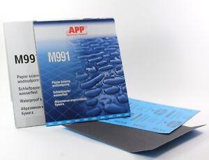 Schleifpapier wasserfest Bogen 230 x 280mm Nassschleifpapier P60-P7000 M991  APP