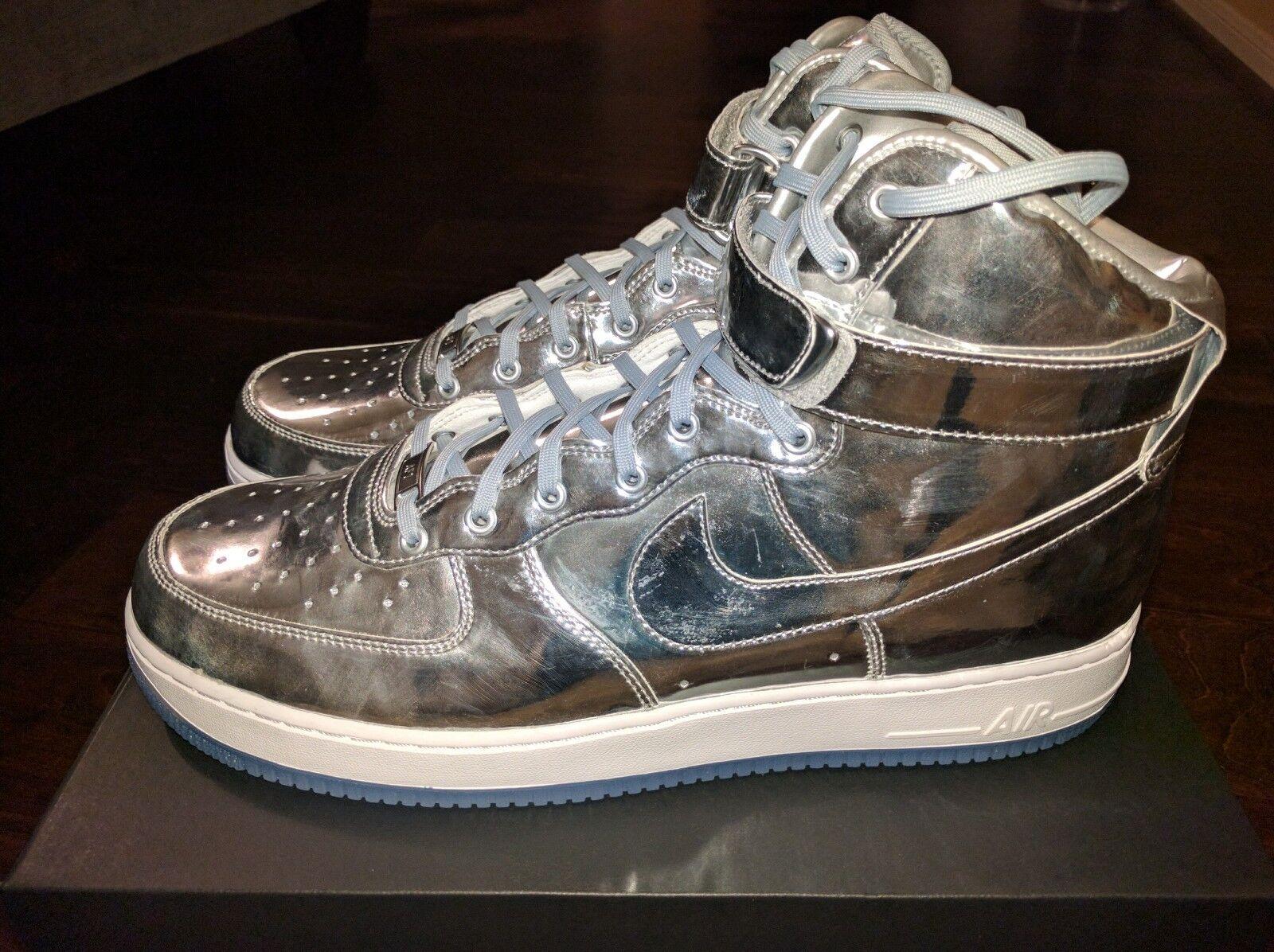 Nike Air Force 1 High Blanco Premium id Liquid Plata Blanco High Metallic Jordan off SF 15 gran descuento f49022