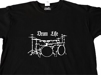 I destroy Silence T shirt Drummer Tee Drum beater Music Band Gift Mens Funny