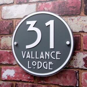 Personalised House Number Plaque Glass Effect Acrylic Sign Door Plate Wall #D17