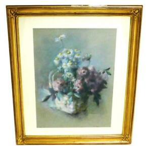LOUISE-E-MARIANETTI-AMERICAN-1916-2009-034-BASKET-WITH-ROSES-AND-DAISIES-034-PASTEL