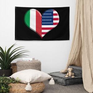 Italian American Flag Italian Pride American Pride Wall Decoration
