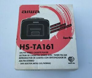 WALKMAN-AIWA-HS-TA161-AM-FM-Stereo-Cassette-Player-Brand-New