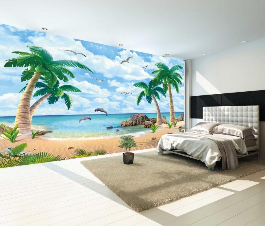 3D Grün Plam 459 Wallpaper Murals Wall Print Wallpaper Mural AJ WALL AU Lemon
