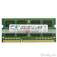 Samsung 4GB DDR3 PC3-10600S PC3-10600 DDR3 1333 Mhz 204 PIN SODIMM Laptop Memory