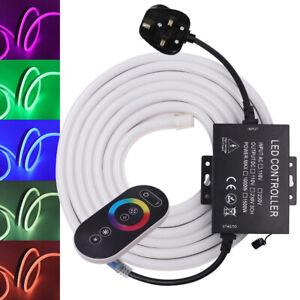 5050-LED-Strip-RGB-Neon-Rope-Light-Flexible-Outdoor-Lighting-US-AU-EU-UK-Plug