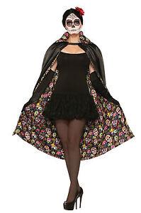 Dia-de-los-muertos-Cabo-Adulto-Sofisticado-Vestido-Halloween-Accesorio-De-Un-Tamano