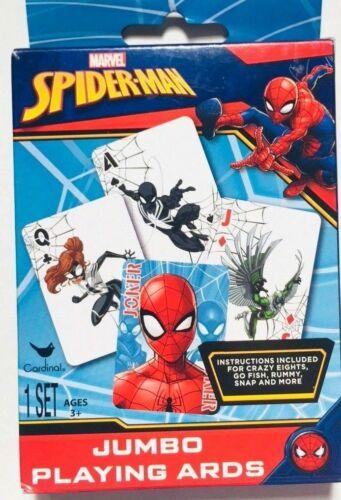 Homem-aranha Jumbo Baralho instruções para Go Fish /& Crazy 8 Marvel