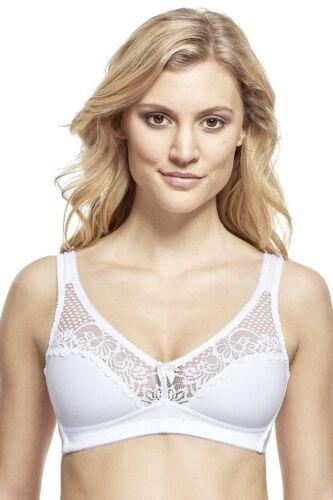 SUSA *Topsy* BH o Bügel 7392 75-95 B-D in Weiß mit femininer Spitze
