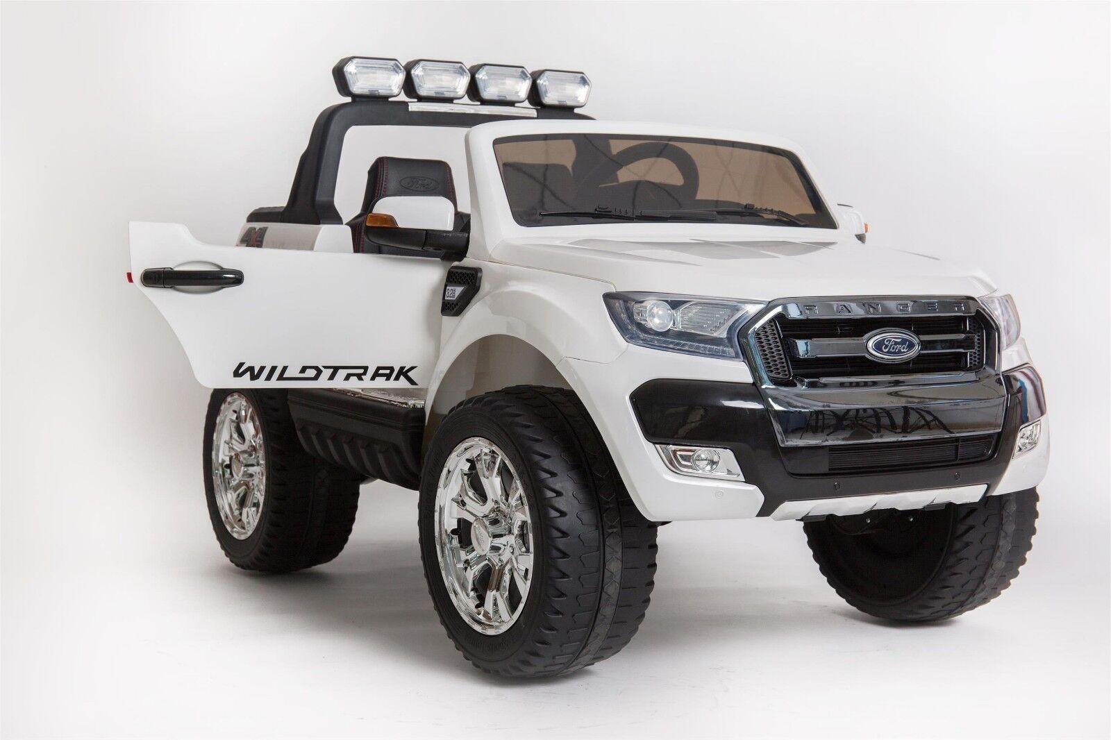 BabyCar® Ford Ranger Luxury white 12V Auto Per Bambini✔Telecomando ✔4x4 Reale