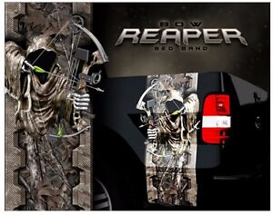 Grim Reaper Bow Hunting Woodland Ghost Camouflage Truck Bed Band - Bow hunting decals for trucks