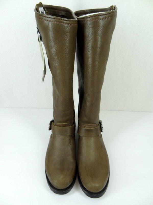 NWT FRYE Boots Sz 8.5 Veronica Slouch Tall Knee High Riding Charcoal NEW