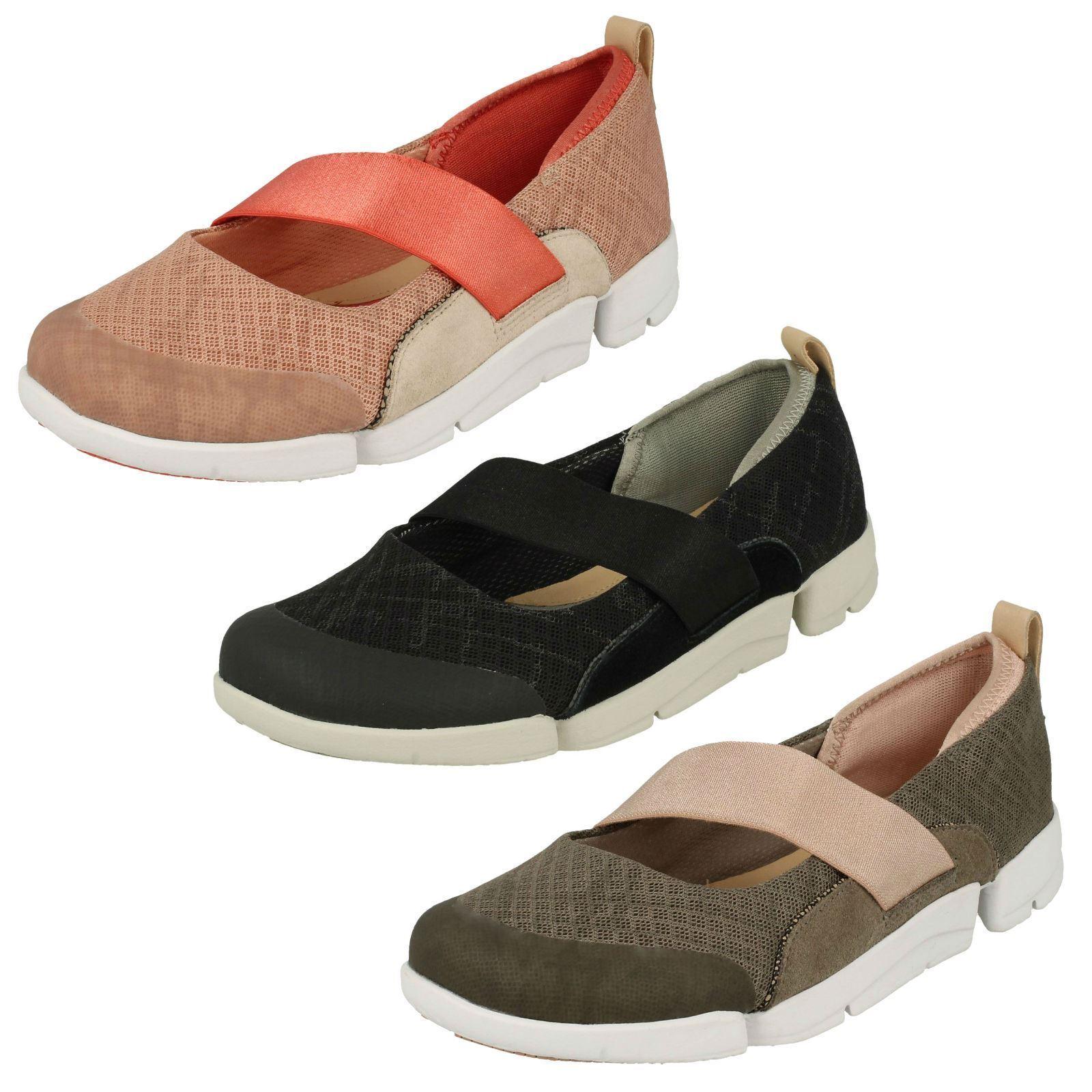 Femmes Clarks Casual Fashion Fashion Fashion Chaussures de sport Tri allie 80c425