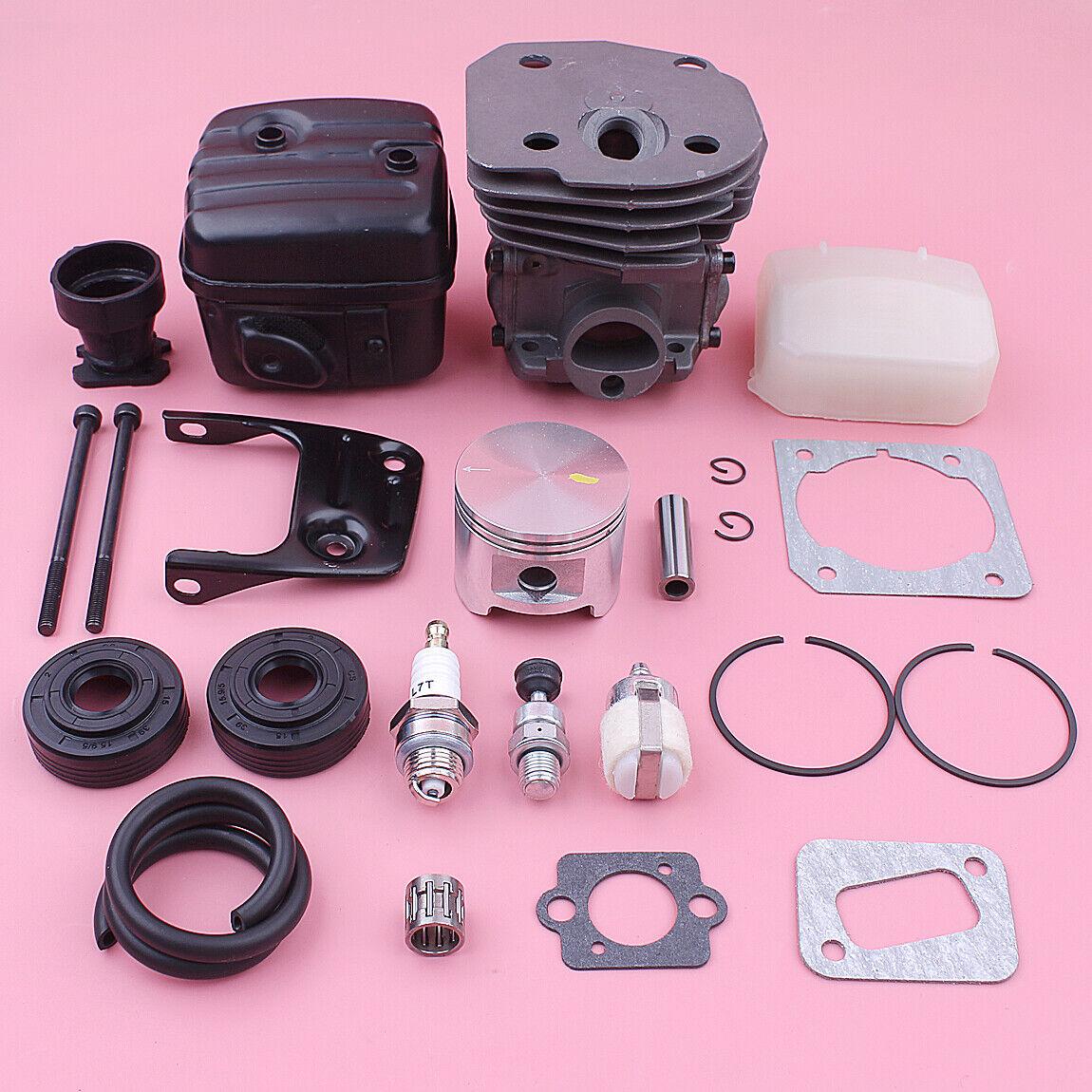 45mm Cilindro Pistón De Escape Silenciador Filtro De Aire Kit Para HUSQVARNA 353 346XP 350