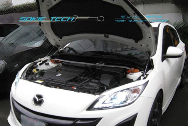 09-13 Mazda3 Mazda 3 Mk2 BL Sedan Hatchback Black Strut Hood Shock