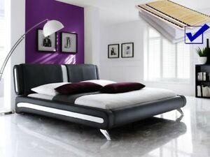Polsterbett Komplett Malin Bett 180x200 Schwarz Lattenrost
