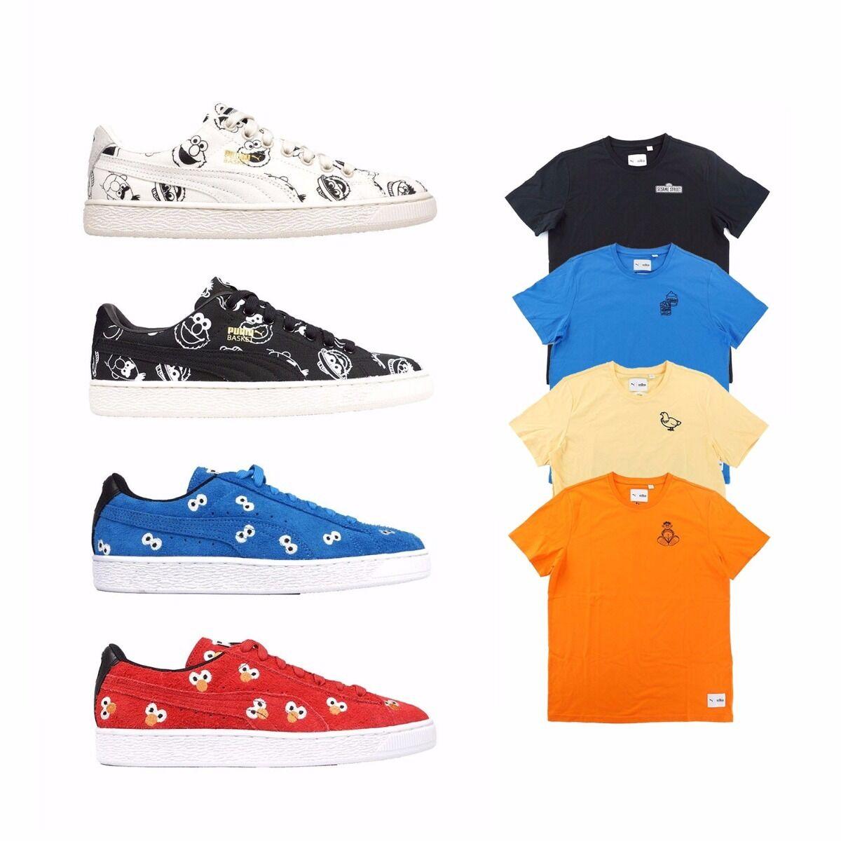 363220 363269 Puma x Sesame Street Suede Street Basket Men's Shoes T-Shirt