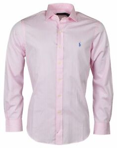 Polo Ralph Lauren Men/'s Classic Fit Spread Collar Shirt-Pink Stripes