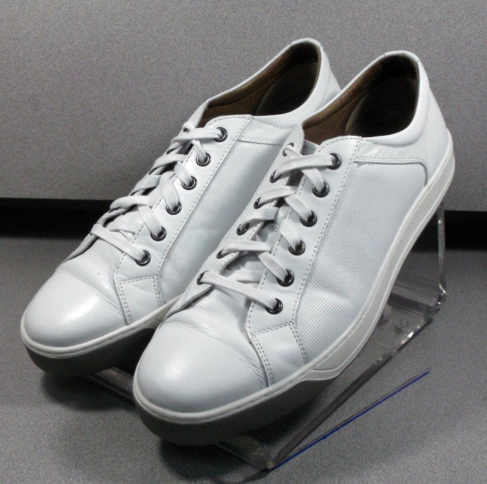 271078 PF50 Chaussures Hommes Taille 10.5 m Cuir Blanc Série 1850 Johnston & Murphy