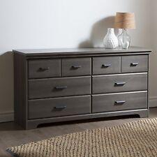 South Shore Versa 6-Drawer Double Dresser, Gray Maple 9041010 New