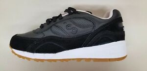 555043bc1e SAUCONY SHADOW 6000 HT BLACK LEATHER WHITE TAN MENS RUNNING SNEAKERS ...