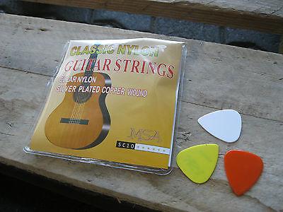 3x Set Konzertgitarre Gitarrensaiten Konzertgitarre Nylon Saiten Satz Classic