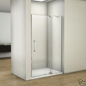 Aica Luxury Frameless Pivot Hinge Shower Door Enclosure