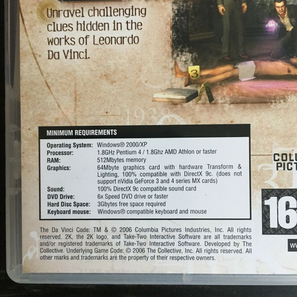 The Da Vinci Code, til pc, adventure