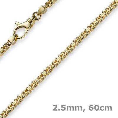 2,5mm Kette Halskette Königskette aus 585 Gold Gelbgold, 60cm, Herren, Goldkette