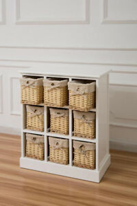 White-Nine-Drawer-Sideboard-With-Natural-Wicker-Baskets-Hallway-Storage
