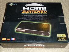 4 PORT HDMI SWITCH - BRAND NEW! Four Source Switcher + Remote 1080p PS3 Xbox 360