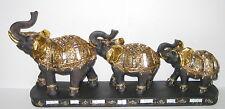 Elefanten Familie, Deko Elefant, glitzernd Spiegelstücke, 37x16x7cm