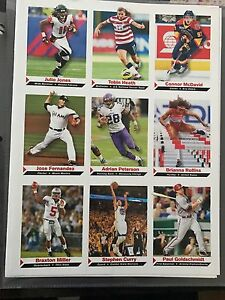 SPORTS-ILLUSTRATED-FOR-KIDS-UNCUT-SHEET-CONNOR-MCDAVID-STEPHEN-CURRY-JULIO-JONES