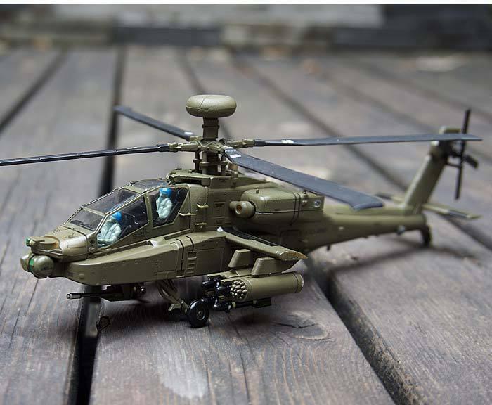 Fuerza Aérea 1 AF1 AH-64A Apache ataque helicóptero del ejército de Estados Unidos 1 72 Diecast Modelo