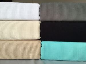 New-100-Premium-Cotton-Luxury-Waffle-Weave-Blanket-Throw-Rug-Bed-Spread-Linen-B