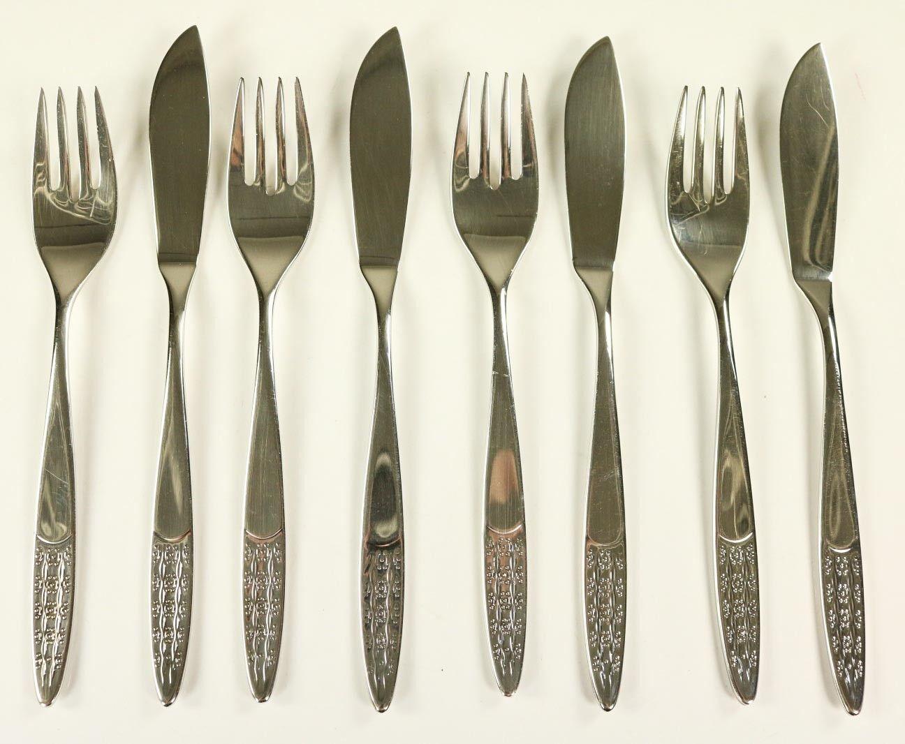 Poisson couverts WMF Rio 90er Argent édition 12 pièces 6 personnes Fish cutlery 70er