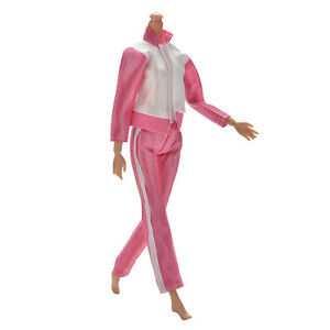 2-Pcs-Set-Handmade-Sports-Doll-039-s-Clothes-Coat-Pant-For-Barbies-Baby-Gifts-New-MF