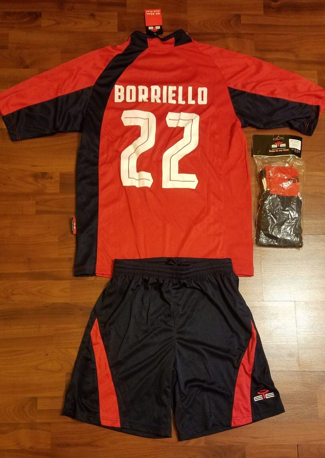 Cagliari Calcio Set completo uniforme de fútbol subió maglia-L -
