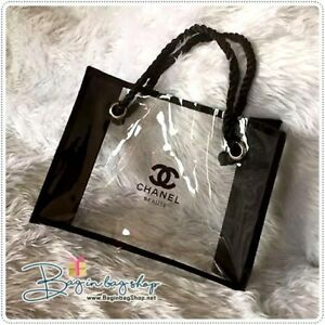 Image Is Loading Chanel Beaute Super Clear Ping Bag Vip Gift