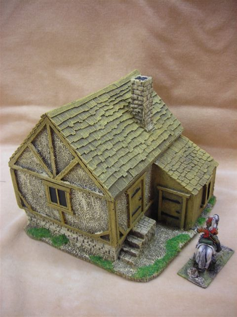 28MM PMC GAMES ME28P (PAINTED) CONSTABLE'S HOUSE - MEDIEVAL