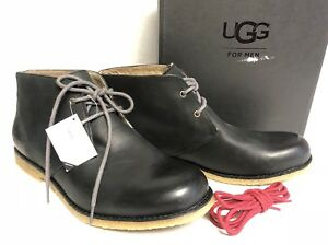 cddff8fb719 Details about UGG Australia Leighton Leather WP Waterproof Desert Boots  Black Lace 1017272 sz