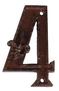 Esschert-Design-hierro-fundido-Numero-de-casa-034-4-034-Marron-Metal-No
